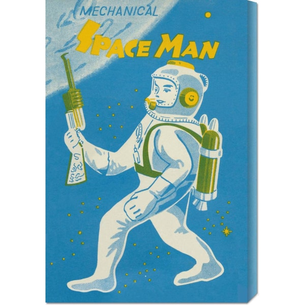 Global Gallery Retrobot 'Mechanical Space Man' Stretched Canvas Art