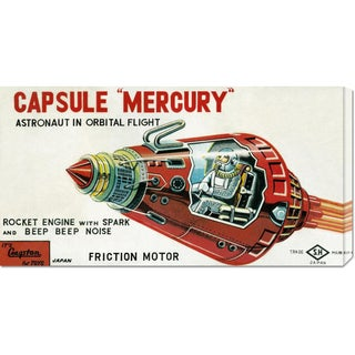 Global Gallery Retrobot 'Capsule Mercury' Stretched Canvas Art