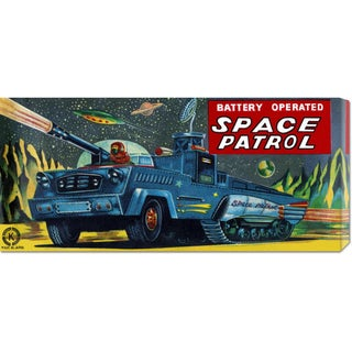 Global Gallery Retrobot 'Space Patrol' Stretched Canvas Art