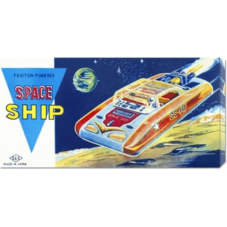 Global Gallery Retrobot 'Friction Powered Space Ship SS-18' Canvas Art