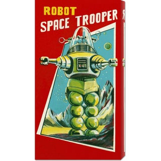 Global Gallery Retrobot 'Robot Space Trooper' Canvas Art