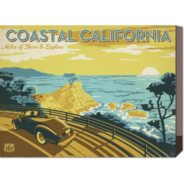 Global Gallery 'Coastal California' Stretched Canvas Art