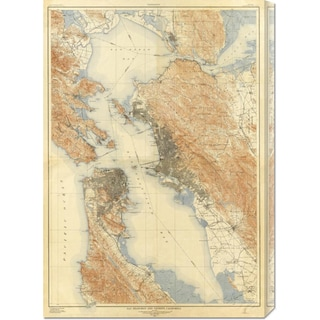 Global Gallery 'San Francisco and Vicinity, California, 1915' Stretched Canvas