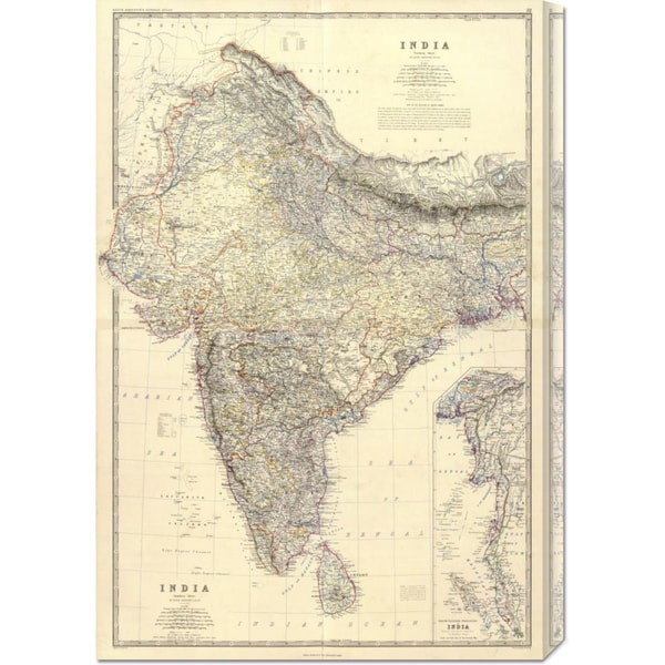 Global Gallery Alexander Keith Johnston 'Composite: India, 1861' Stretched Canvas Art