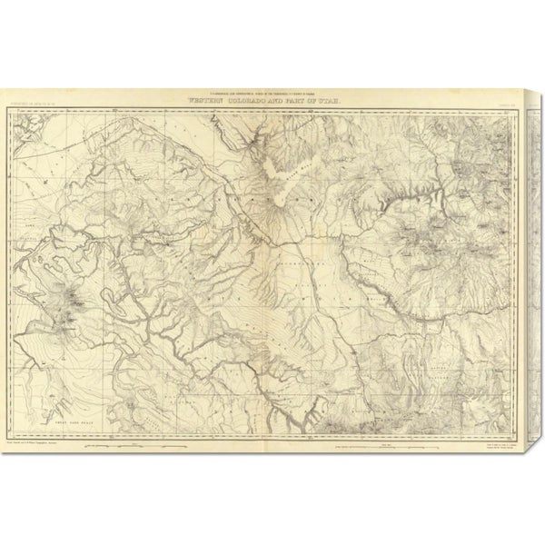 Global Gallery F.V. Hayden 'Western Colorado and Part of Utah, 1881' Stretched Canvas Art