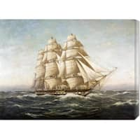 Global Gallery Myron Clark 'U.S.S. Constitution' Stretched Canvas Art