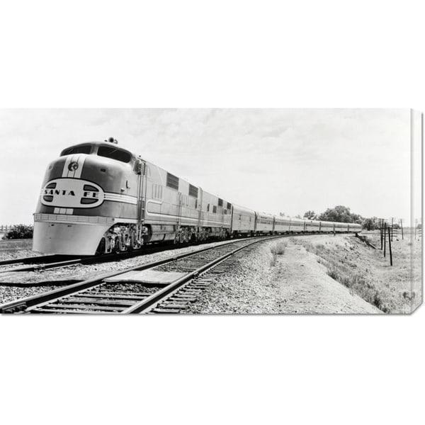 Global Gallery Philip Gendreau 'Santa Fe Super Chief Train, 1938 (detail)' Stretched Canvas Art
