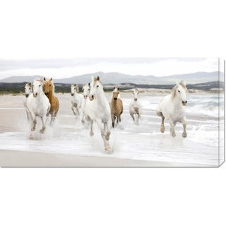 Global Gallery Zero Creative Studio 'Horses on the Beach (detail)' Stretched Canvas Art (2 options available)