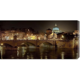 Global Gallery Vadim Ratsenskiy 'Rome at night' Stretched Canvas Art