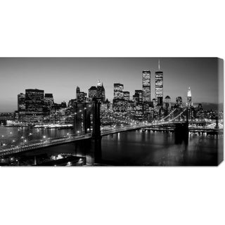 Global Gallery Richard Berenholtz 'Brooklyn Bridge, NYC' Stretched Canvas Art
