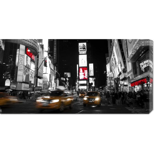 Global Gallery Ludo H 'Nightlife in Times Square' Stretched Canvas Art