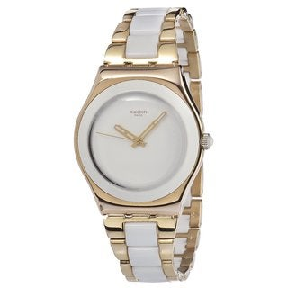 Swatch Women's Rose Pearl Two-tone Linked Aluminum Watch