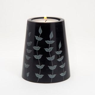 Hand-carved Cone Shaped Palewa Soapstone Tea Light Holder (India)