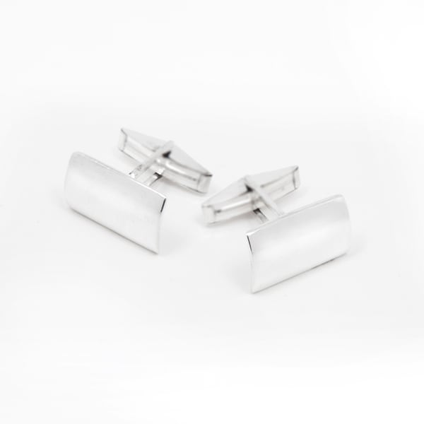 Handcrafted Sterling Silver Men's Cufflinks (India)
