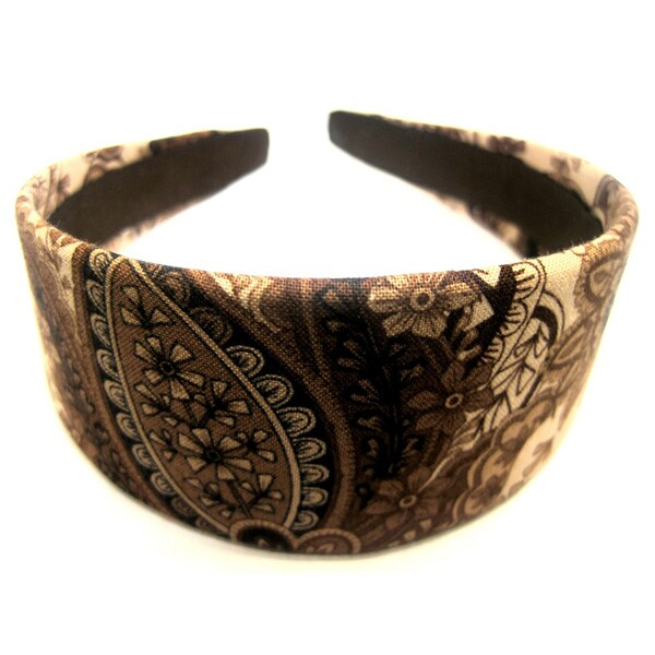 Crawford Corner Shop Brown Paisley Headband