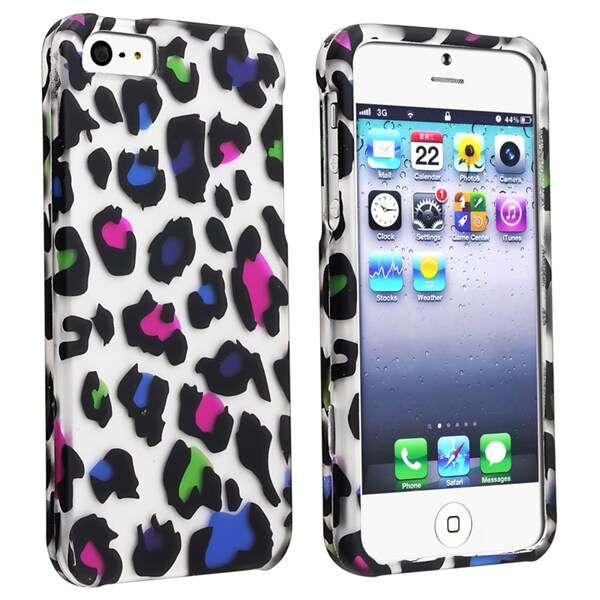BasAcc Clear/ Colorful Leopard Snap-on Case for Apple iPhone 5