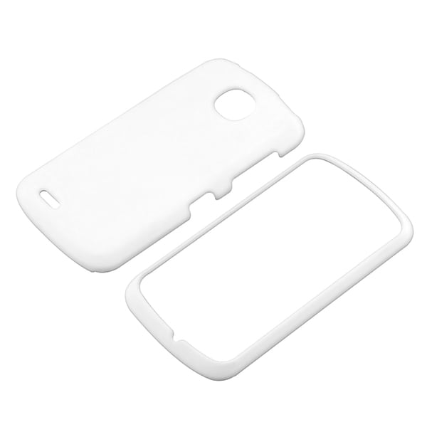 BasAcc White Snap-on Rubber Coated Case for Pantech Marauder