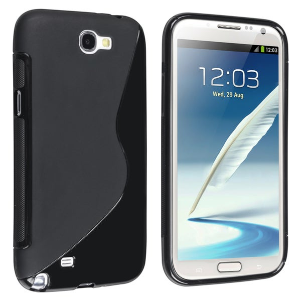 BasAcc Black S Shape TPU Case for Samsung Galaxy Note II N7100