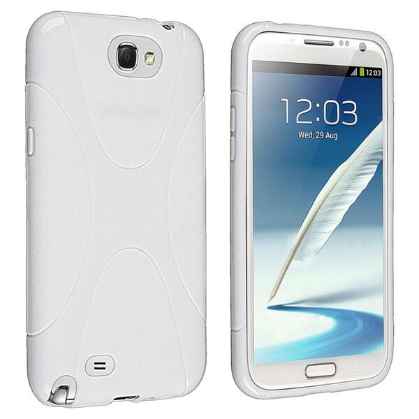 BasAcc White X Shape TPU Case for Samsung Galaxy Note II N7100