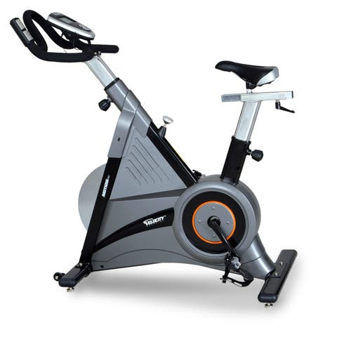 Velocity Exercise Hybrid Upright Indoor Cycle - Black/silver