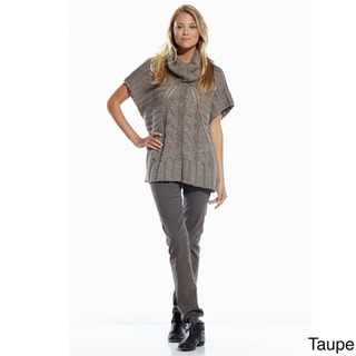 Elan Women's Chain Link/ Ribbed Knit Sweater