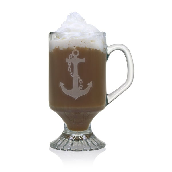 Anchor Footed 10 Ounce Mugs (Set of 4)