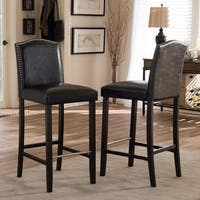 Gracewood Hollow Roth Traditional Faux Leather 30-inch Bar Stool
