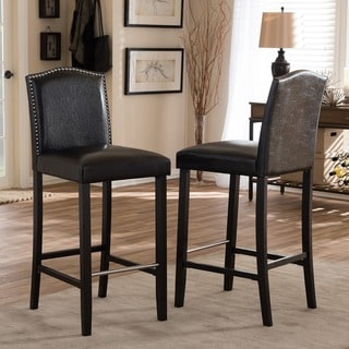 Copper Grove Checleset Traditional Faux Leather 30-inch Bar Stool