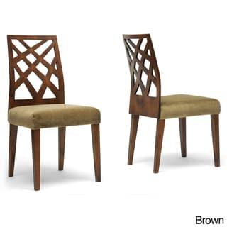 Baxton Studio 'Marla' Microfiber Modern Dining Chairs (Set of 2)