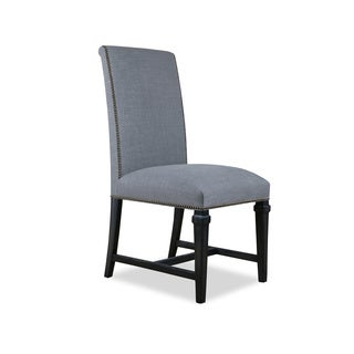 Florencia Hardwood and Linen Upholstered Dining Chair (Set of 2)
