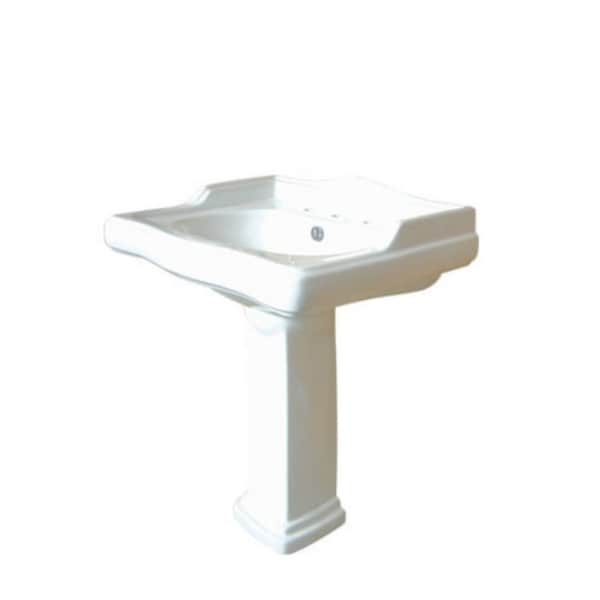 Vintage 27-inch for 8-inch Center Pedestal Bathroom Sink Vanity