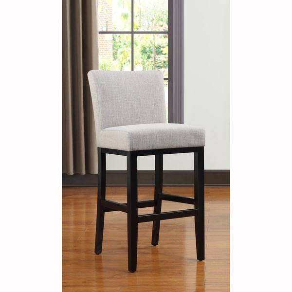 Upholstered Bar Stool Ridged Leg Stools With Backs And: Portfolio Orion Barley Tan Linen Upholstered 29-inch Bar
