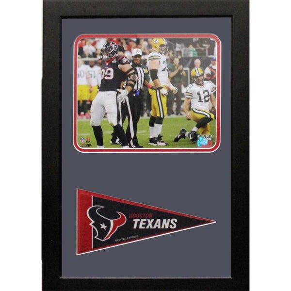 Encore Select Houston Texans JJ Watt Pennant Custom Frame (12x18)