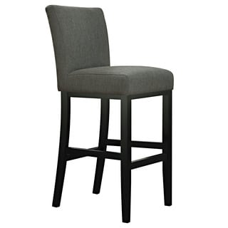 Portfolio Orion Basil Grey Linen Upholstered 29-inch Bar Stool