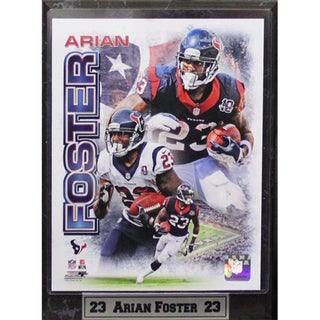 Arian Foster Houston Texans 9x12 Plaque