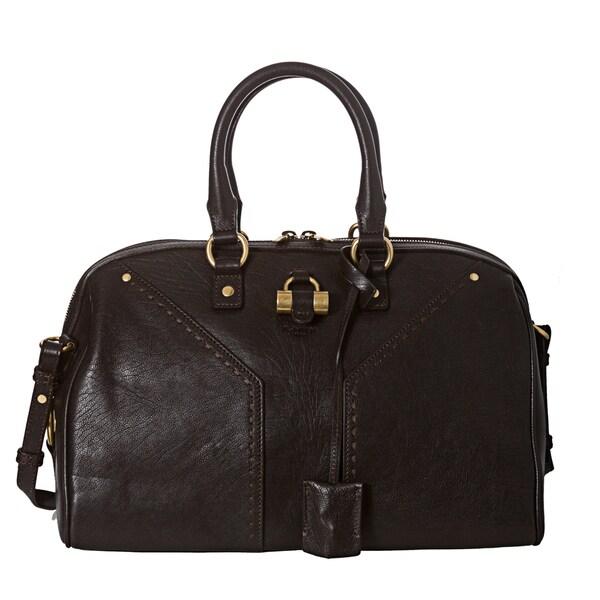 Yves Saint Laurent 'Muse' Dark Brown Bowler Bag