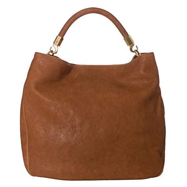 Yves Saint Laurent Camel 'Roady' Large Hobo Bag