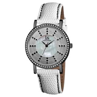 Joshua & Sons Women's Swiss Quartz Stainless Steel Leather-Black Strap Crystal Watch|https://ak1.ostkcdn.com/images/products/7569305/7569305/Joshua-Sons-Womens-Swiss-Quartz-Stainless-Steel-Crystal-Strap-Watch-P14998895.jpeg?impolicy=medium