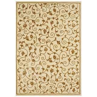 Alliyah Handmade Cream New Zealand Blend Wool Rug (8' x 10')