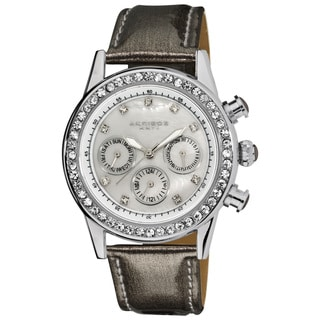 Akribos XXIV Women's Multifunction Dazzling Gray Strap Watch