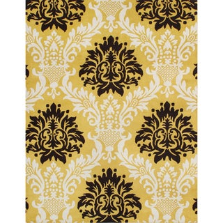 Alliyah Handmade York Yellow New Zealand Blend Wool Rug (5' x 8')