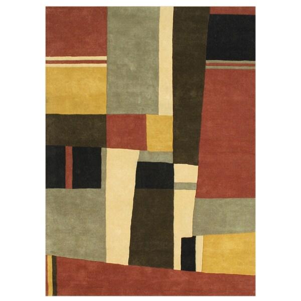 Alliyah Handmade Multi New Zealand Blend Wool Rug(8' x 10')