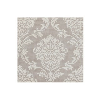 Alliyah Handmade Beige and Grey New Zealand Blend Wool Rug (9' x 12')