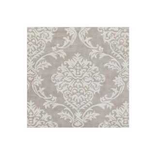 Alliyah Handmade Beige and Grey New Zealand Blend Wool Rug (9' x 12')