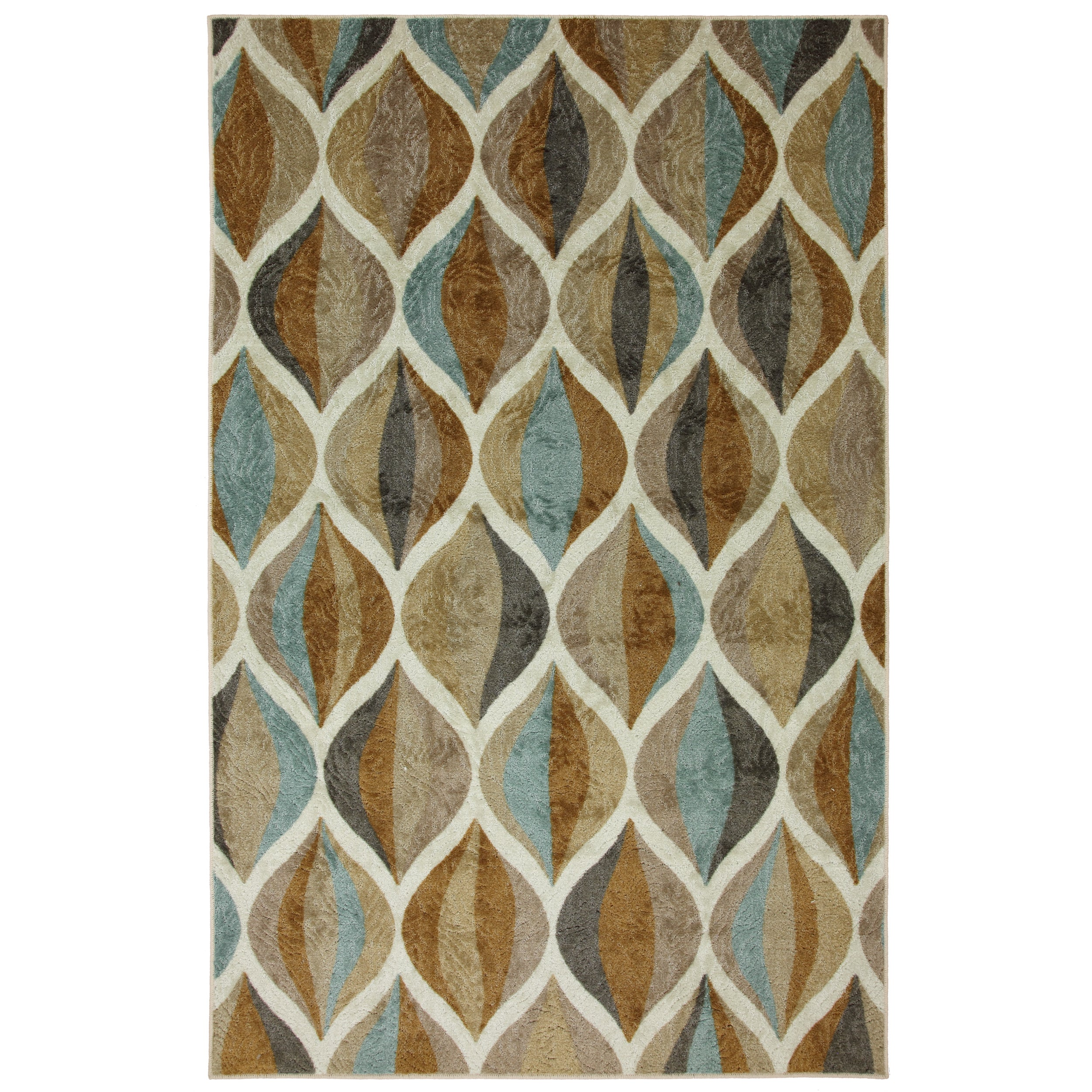 "MOHAWK Home New Wave Ornamental Ogee Area Rug (7'6"" x 10'..."