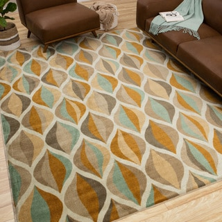 Mohawk Home New Wave Ornamental Ogee Area Rug (5' x 8')