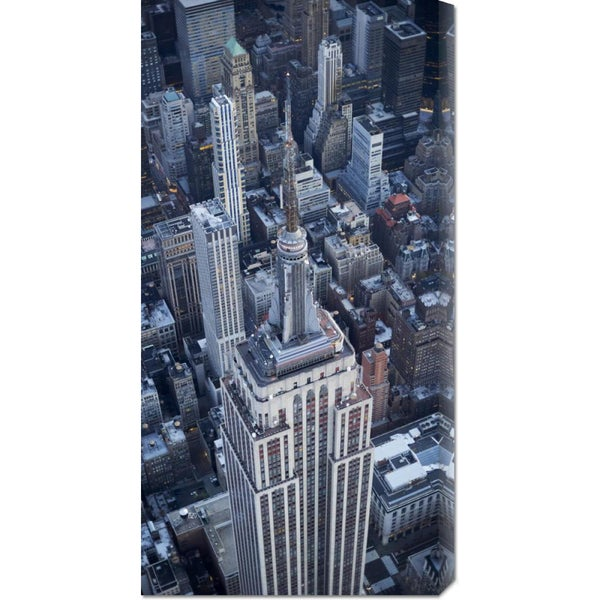 Global Gallery Cameron Davidson 'Aerial view of the Empire State Building' Stretched Canvas