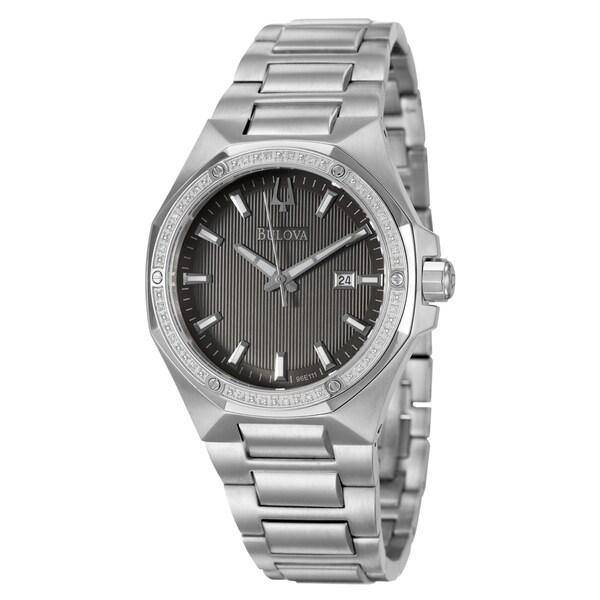 Bulova Men's 96E111 'Diamonds' Stainless Steel Watch