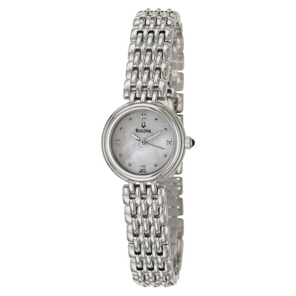 Bulova Women's 96P122 Elegant 'Diamonds' Stainless-Steel Watch