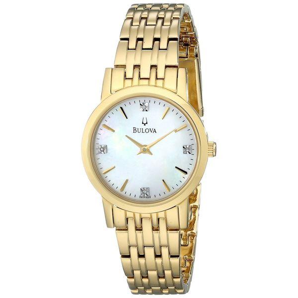 Bulova Women's 'Diamonds' Gold-plated Stainless Steel Watch